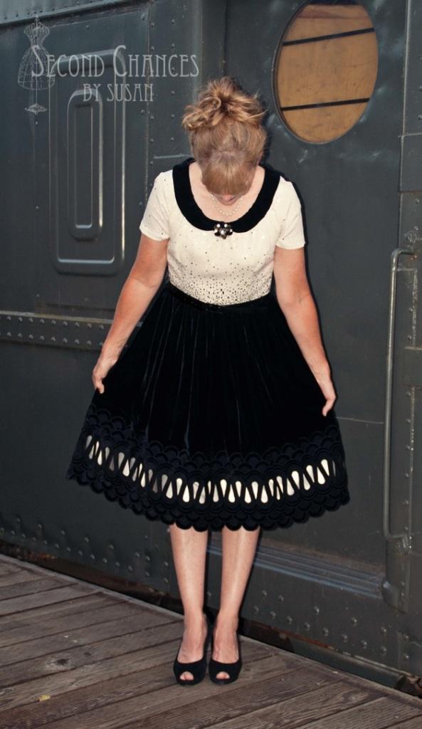 looking down at skirt Susan 4