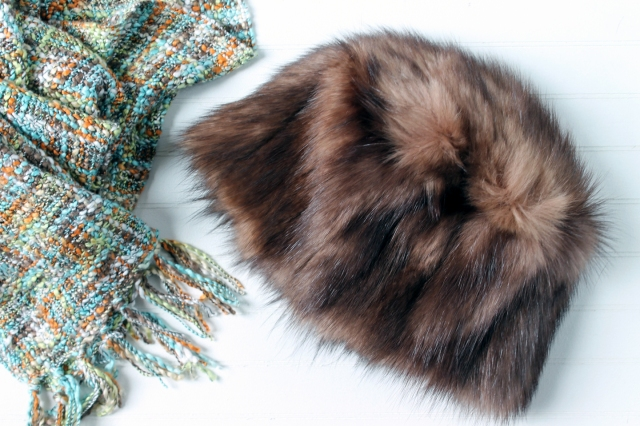 fur hat refashion