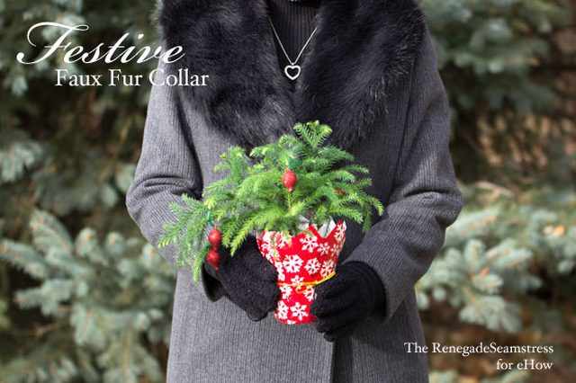 festive faux fur collar