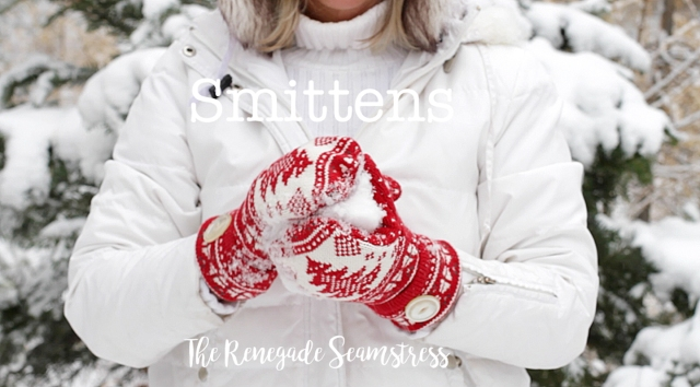 DIY mittens made from old sweaters