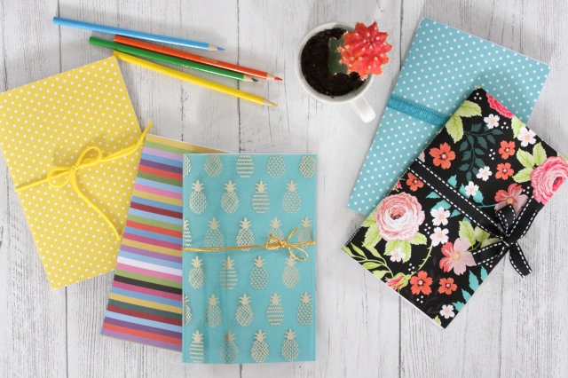 Hand sewn journals for Mother's Day