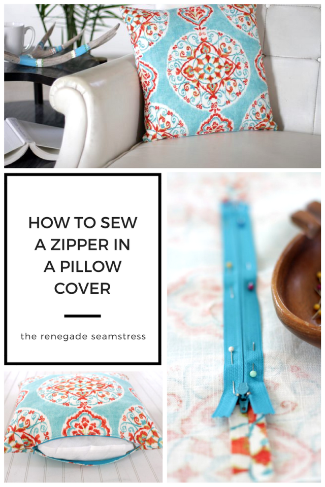 How to sew a zipper in a pillow cover