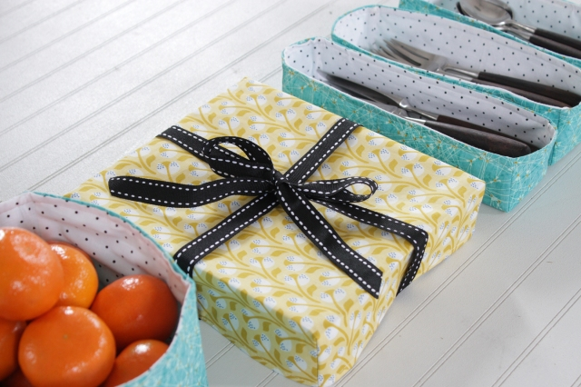 fabric boxes for Mother's Day