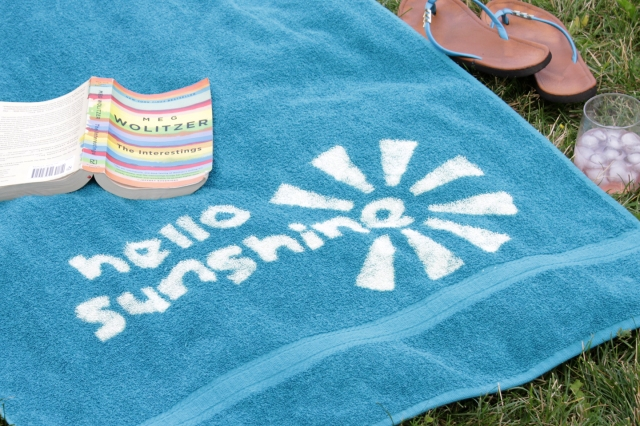 Get your beach vibe on with your very own customized beach towel. No need for a bland one when the weather gets warm. Instead, get the towel of your summer dreams by creating your own design with bleach.