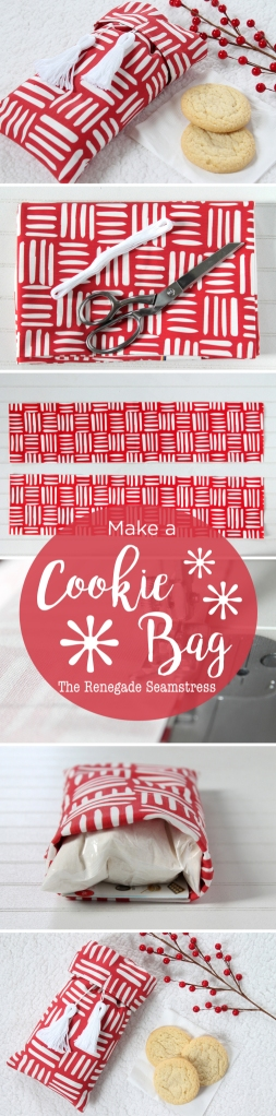 Adorable diy cookie bag for your cookie exchange