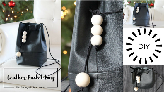 How to turn an old leather jacket into a chic bucket bag
