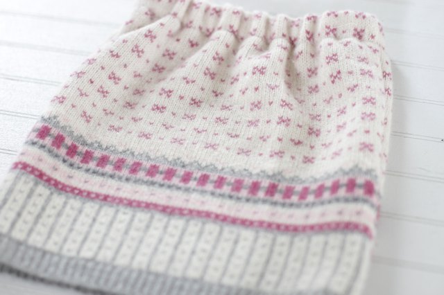 Make a Cozy Little Girl's Sweater Skirt From an Old Sweater