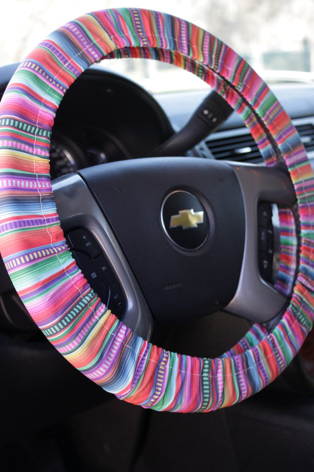 DIY Fabric Steering Wheel Cover