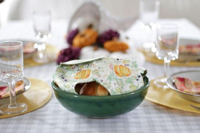 diy fabric bread basket cover