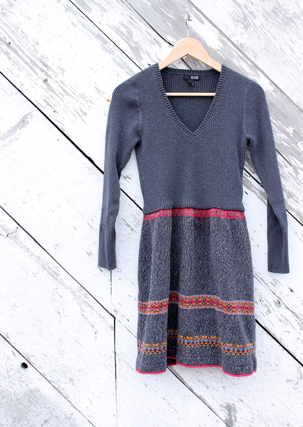 Sweater dress refashion by the Renegade Seamstress