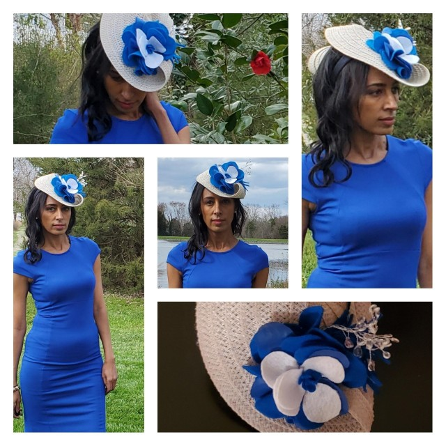 Refashion Runway Kentucky Derby hat refashion
