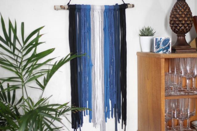 t-shirt yarn wall hanging