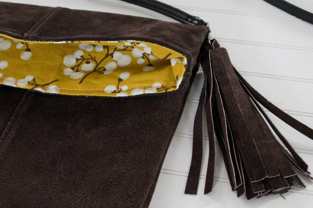 How to Turn a Suede Jacket Into a Crossbody Bag