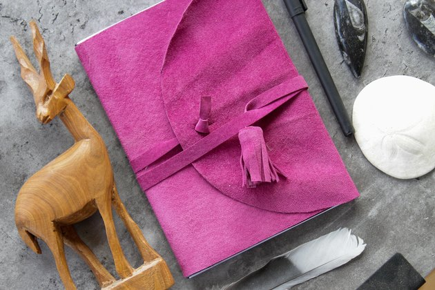How to Make a Journal Cover From a Suede Jacket