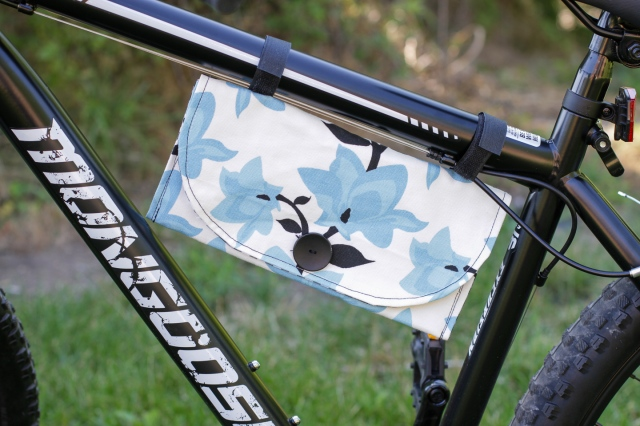 how to sew a bike pouch