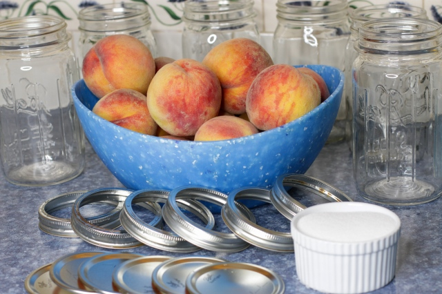 supplies needed for home canned peaches