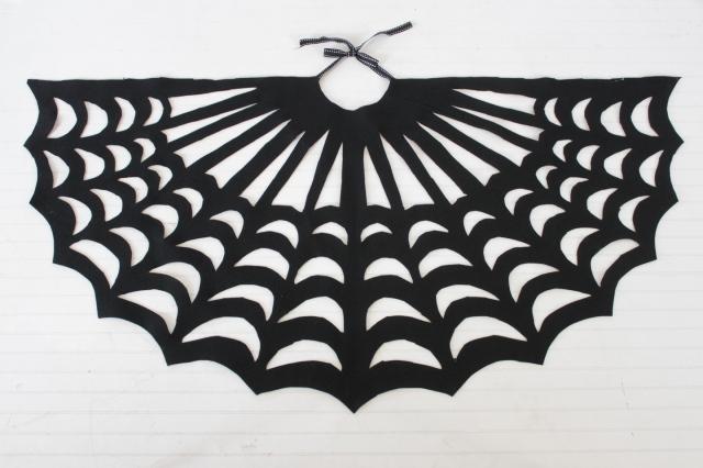 finished diy spider web poncho
