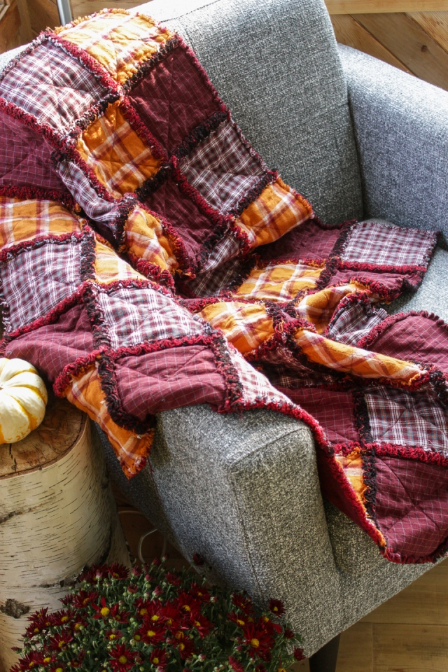 DIY Quilt From Upcycled Flannel Shirts