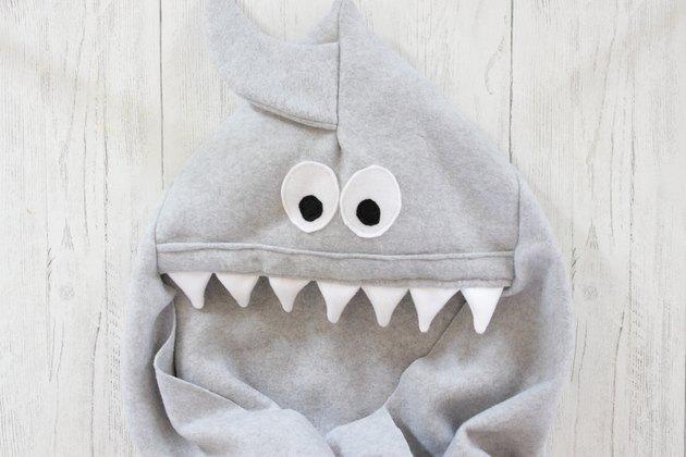DIY Shark Hooded Fleece Blanket