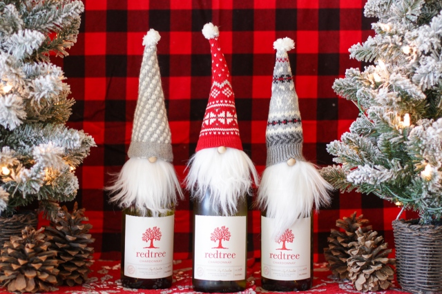 diy gnome bottle toppers