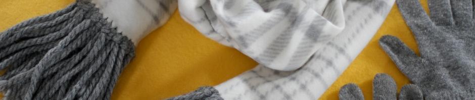 DIY Fringe fleece scarf
