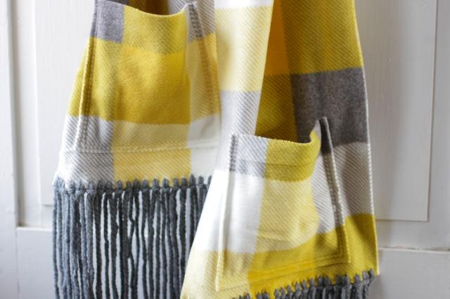 finished diy fleece fringe pocket scarf